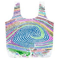 Prismatic Fingerprint Full Print Recycle Bags (l)