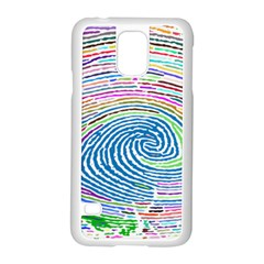 Prismatic Fingerprint Samsung Galaxy S5 Case (white)