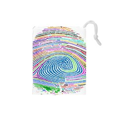 Prismatic Fingerprint Drawstring Pouches (small)