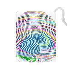 Prismatic Fingerprint Drawstring Pouches (large)