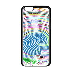 Prismatic Fingerprint Apple Iphone 6/6s Black Enamel Case