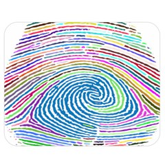 Prismatic Fingerprint Double Sided Flano Blanket (Medium)