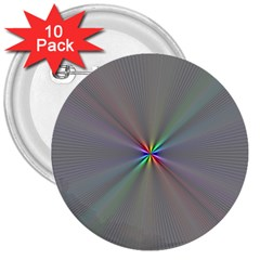 Square Rainbow 3  Buttons (10 pack)