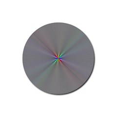 Square Rainbow Rubber Round Coaster (4 pack)