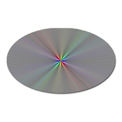 Square Rainbow Oval Magnet