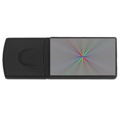 Square Rainbow USB Flash Drive Rectangular (1 GB)