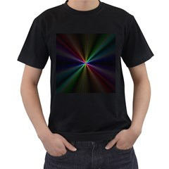 Square Rainbow Men s T Shirt (black) (two Sided)