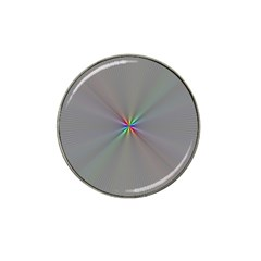 Square Rainbow Hat Clip Ball Marker (4 Pack)