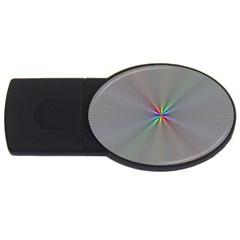 Square Rainbow Usb Flash Drive Oval (4 Gb)