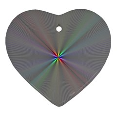 Square Rainbow Heart Ornament (two Sides)