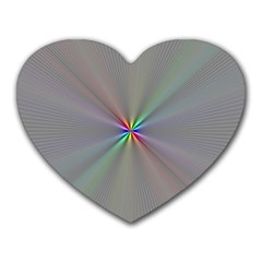 Square Rainbow Heart Mousepads