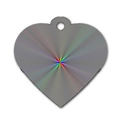 Square Rainbow Dog Tag Heart (Two Sides)