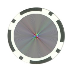 Square Rainbow Poker Chip Card Guard (10 pack)