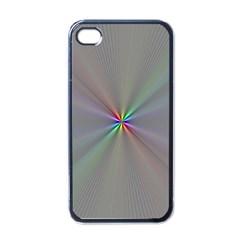 Square Rainbow Apple iPhone 4 Case (Black)