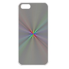 Square Rainbow Apple iPhone 5 Seamless Case (White)