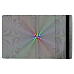 Square Rainbow Apple iPad 3/4 Flip Case
