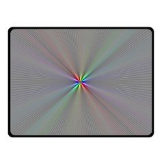 Square Rainbow Double Sided Fleece Blanket (small)