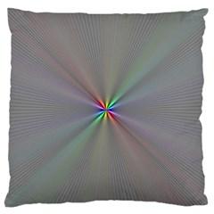 Square Rainbow Large Flano Cushion Case (one Side)