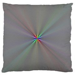 Square Rainbow Large Flano Cushion Case (two Sides)