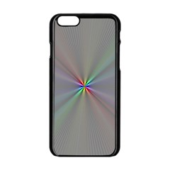 Square Rainbow Apple Iphone 6/6s Black Enamel Case