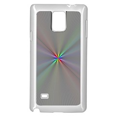 Square Rainbow Samsung Galaxy Note 4 Case (White)