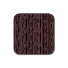 Grain Woody Texture Seamless Pattern Rubber Square Coaster (4 pack)