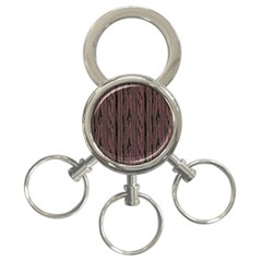 Grain Woody Texture Seamless Pattern 3-Ring Key Chains