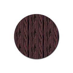 Grain Woody Texture Seamless Pattern Rubber Round Coaster (4 Pack)