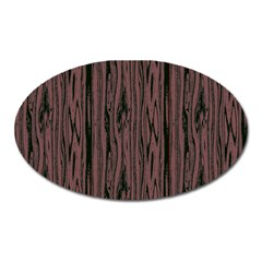Grain Woody Texture Seamless Pattern Oval Magnet