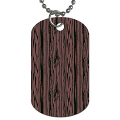 Grain Woody Texture Seamless Pattern Dog Tag (one Side)