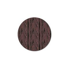 Grain Woody Texture Seamless Pattern Golf Ball Marker