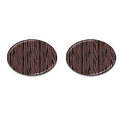 Grain Woody Texture Seamless Pattern Cufflinks (Oval)