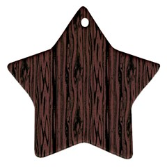Grain Woody Texture Seamless Pattern Star Ornament (Two Sides)