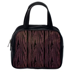 Grain Woody Texture Seamless Pattern Classic Handbags (One Side)