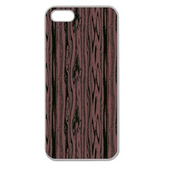 Grain Woody Texture Seamless Pattern Apple Seamless iPhone 5 Case (Clear)