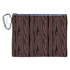 Grain Woody Texture Seamless Pattern Canvas Cosmetic Bag (xxl)