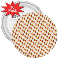 Candy Corn Seamless Pattern 3  Buttons (10 Pack)