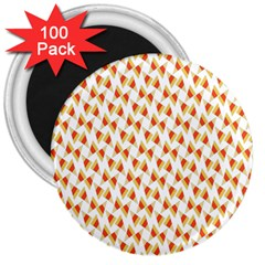 Candy Corn Seamless Pattern 3  Magnets (100 Pack)