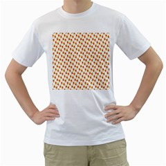 Candy Corn Seamless Pattern Men s T Shirt (white) (two Sided)