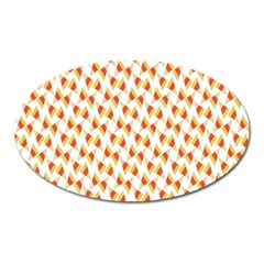 Candy Corn Seamless Pattern Oval Magnet