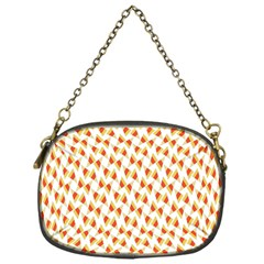 Candy Corn Seamless Pattern Chain Purses (one Side)