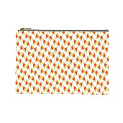 Candy Corn Seamless Pattern Cosmetic Bag (Large)