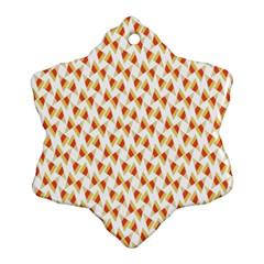 Candy Corn Seamless Pattern Snowflake Ornament (two Sides)