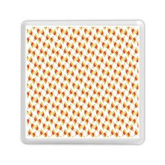 Candy Corn Seamless Pattern Memory Card Reader (square)