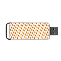 Candy Corn Seamless Pattern Portable Usb Flash (one Side)