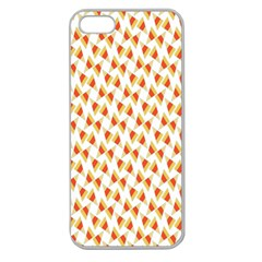 Candy Corn Seamless Pattern Apple Seamless Iphone 5 Case (clear)