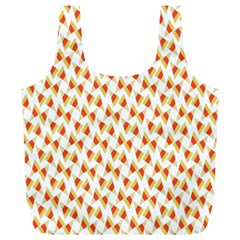 Candy Corn Seamless Pattern Full Print Recycle Bags (l)