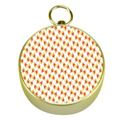 Candy Corn Seamless Pattern Gold Compasses