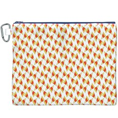 Candy Corn Seamless Pattern Canvas Cosmetic Bag (xxxl)