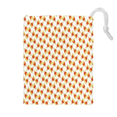 Candy Corn Seamless Pattern Drawstring Pouches (Extra Large)